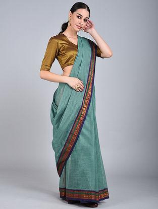 Sea Green Handwoven Narayanpet Cotton Saree