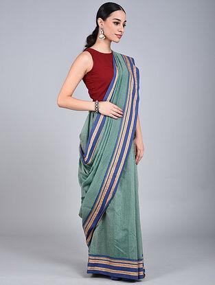 Green-Blue Handwoven Narayanpet Cotton Saree
