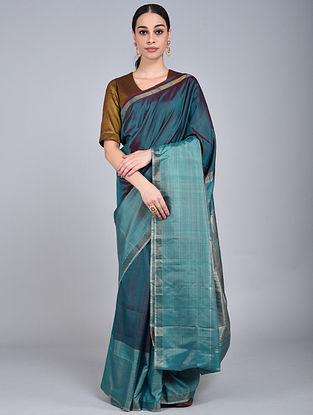 Blue Handwoven Uppada Silk Saree