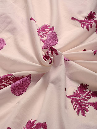Pink Hand Block Printed Cotton Fabric