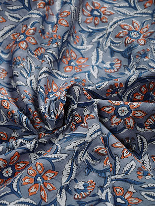 Multicolor Hand Block Printed Cotton Fabric