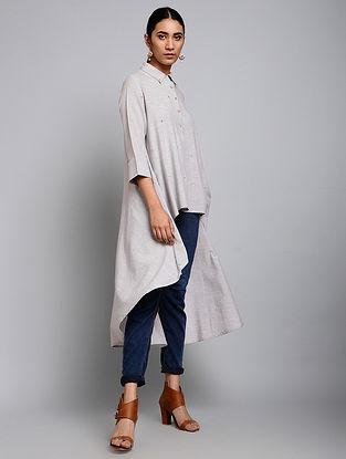 Miranda Grey Yarn-Dyed Cotton Shirt