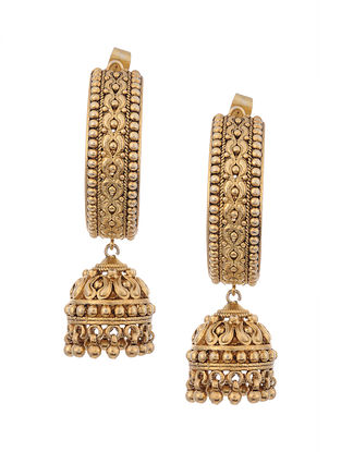 Gold Plated Silver Jhumki Earrings