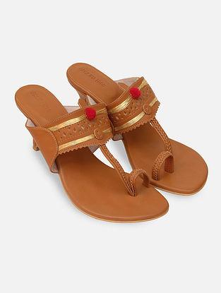 Tan Handcrafted Heels