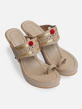 Beige Handcrafted Heels