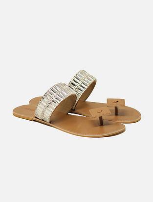 Beige Handcrafted Flats