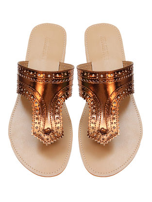 Copper-Beige Handcrafted Flats