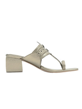 Champagne Handcrafted Box Heels