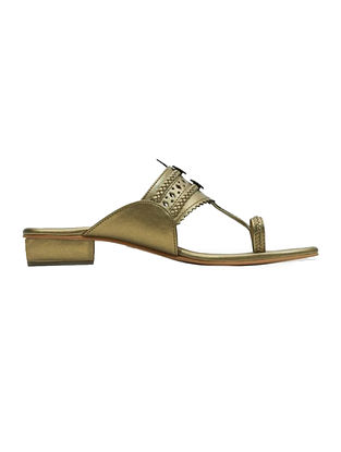 Dull Gold Handcrafted Heels