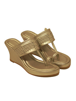 Dull Gold Handcrafted Wedges
