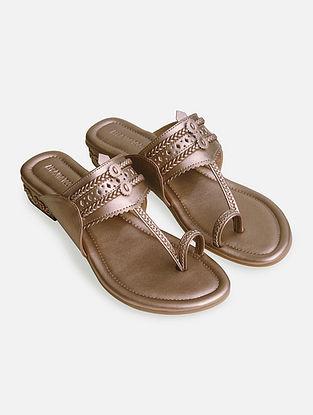 Rose Gold Handcrafted Kolhapuri Box Heels