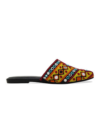 Multicolored Handcrafted Leather Mules