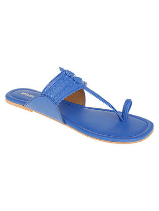 Blue Handcrafted Kolhapuri