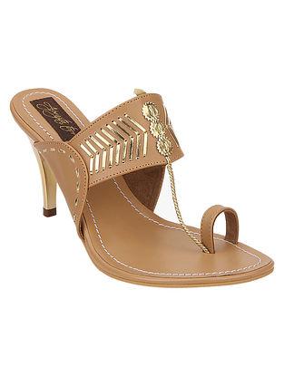 Beige Handcrafted Sandals