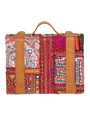 Maroon Kutch Embroidered Handbag