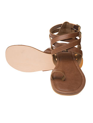 Brown Hand-crafted Flats