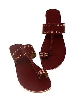 Maroon Handcrafted Flats