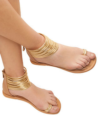 Gold-Beige Handcrafted Gladiators