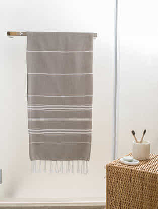 Beige Cotton Bath Towel (60in x 30.5in)
