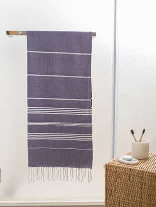Deep Purple Cotton Bath Towel (62in x 30in)