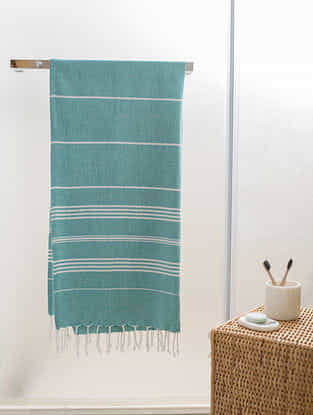 Mint Cotton Bath Towel (61in x 29in)
