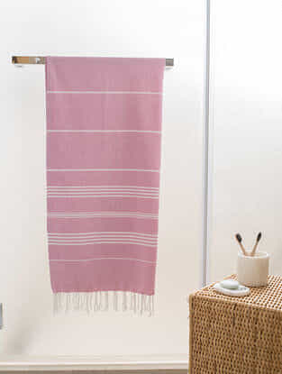Pink Paradise Cotton Bath Towel (60in x 30in)