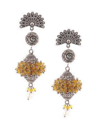 Yellow Silver Tone Earrings