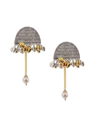 Dual Tone Handcrafted Earrings with Ghunghroo