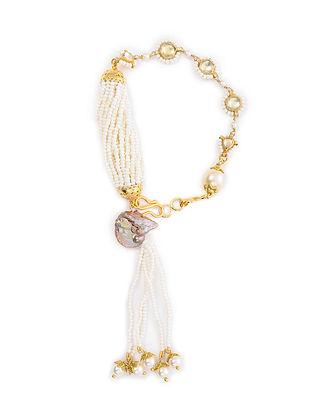 Gold Tone Pearl Beaded Bracelet