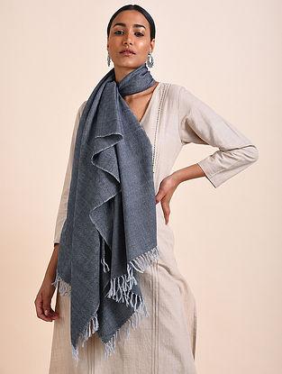 Grey Handwoven Lambswool Stole