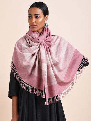 Pink Handwoven Lambswool Stole