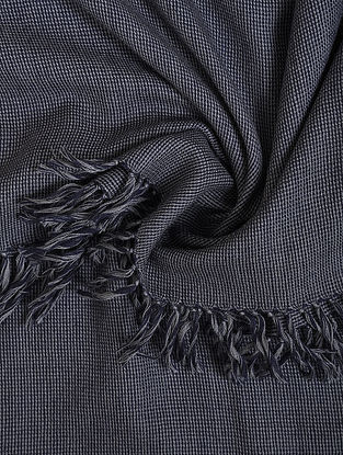 Blue-Grey Handwoven Lambswool Mens Shawl