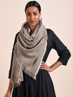 Grey Handwoven Pashmina Stole