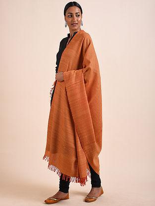 Orange Handwoven Lambswool Shawl