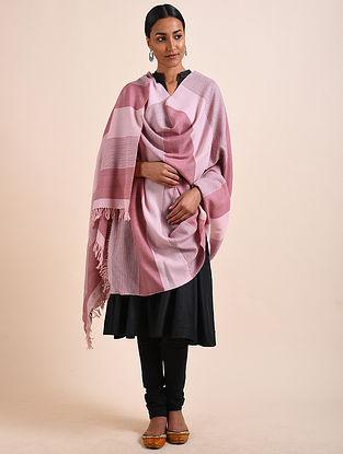 Pink Handwoven Lambswool Shawl