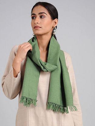Green Handwoven Lambswool Scarf