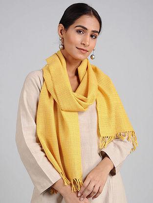 Yellow Handwoven Lambswool Scarf