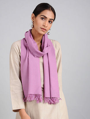 Lilac Handwoven Lambswool Scarf