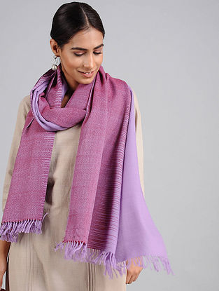 Lilac Handwoven Lambswool Stole