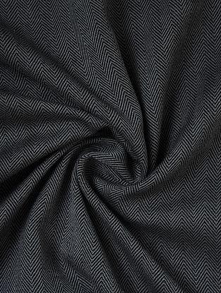 Grey Handwoven Lambswool Mens Fabric