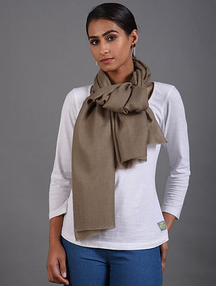 Brown Handwoven Pashmina Stole