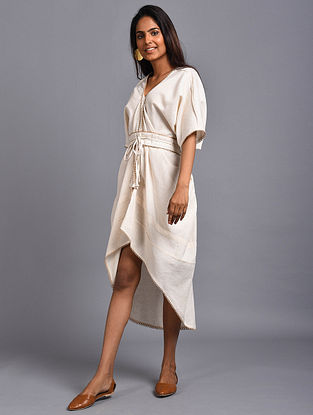 Sevilla Ivory Organic Cotton Dress with Belt