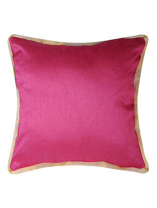 Fuchsia Dupion Silk Cushion Cover (16in x 16in)