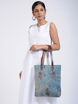 Indigo Handcrafted Cotton Tote Bag