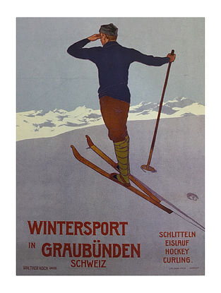 Wintersport in Graubunden Print on Paper