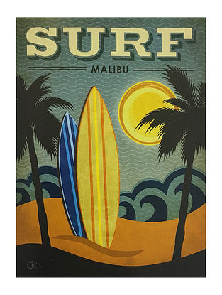 Surf Mailbu Print on Paper