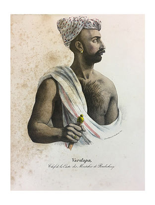 Vardapa, Chief of tribe Moutchis, Pondichery Lithoprint - 12in x 18in