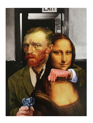 Fusion of Mona Lisa and Van Gogh Art Print on Paper - 14in x 20in