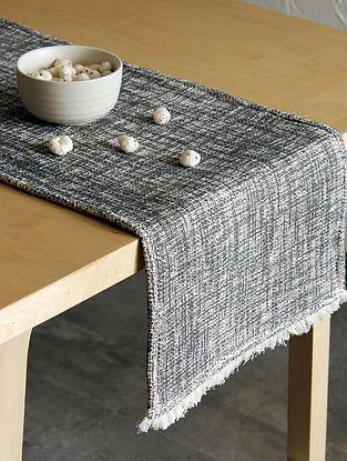 Matsya Vala Black Handcrafted Cotton Runner (13in x 72in)