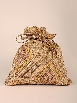 Multicolored Handcrafted Cotton Jamdani Potli